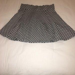 Aeropostale Skirts - Checkered black and white school girl skirt